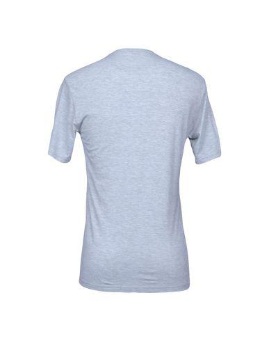 Фото 2 - Женскую футболку DANIELE ALESSANDRINI HOMME светло-серого цвета