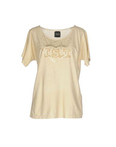 Фото - Женскую футболку TWIN-SET JEANS бежевого цвета