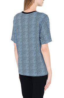 PHILOSOPHY di LORENZO SERAFINI Bluette T-shirt with micro animal pattern T-shirt Woman d