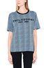 PHILOSOPHY di LORENZO SERAFINI Bluette T-shirt with micro animal pattern T-shirt Woman r