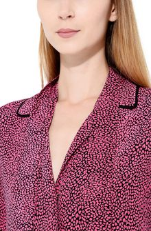 PHILOSOPHY di LORENZO SERAFINI Shirt with micro animal print Blouse Woman e