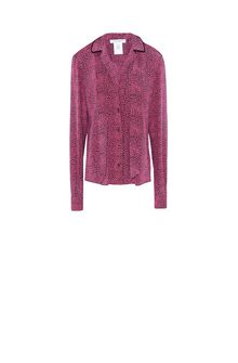 PHILOSOPHY di LORENZO SERAFINI Shirt with micro animal print Blouse Woman f