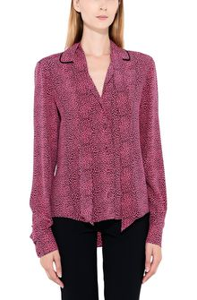 PHILOSOPHY di LORENZO SERAFINI Shirt with micro animal print Blouse Woman r