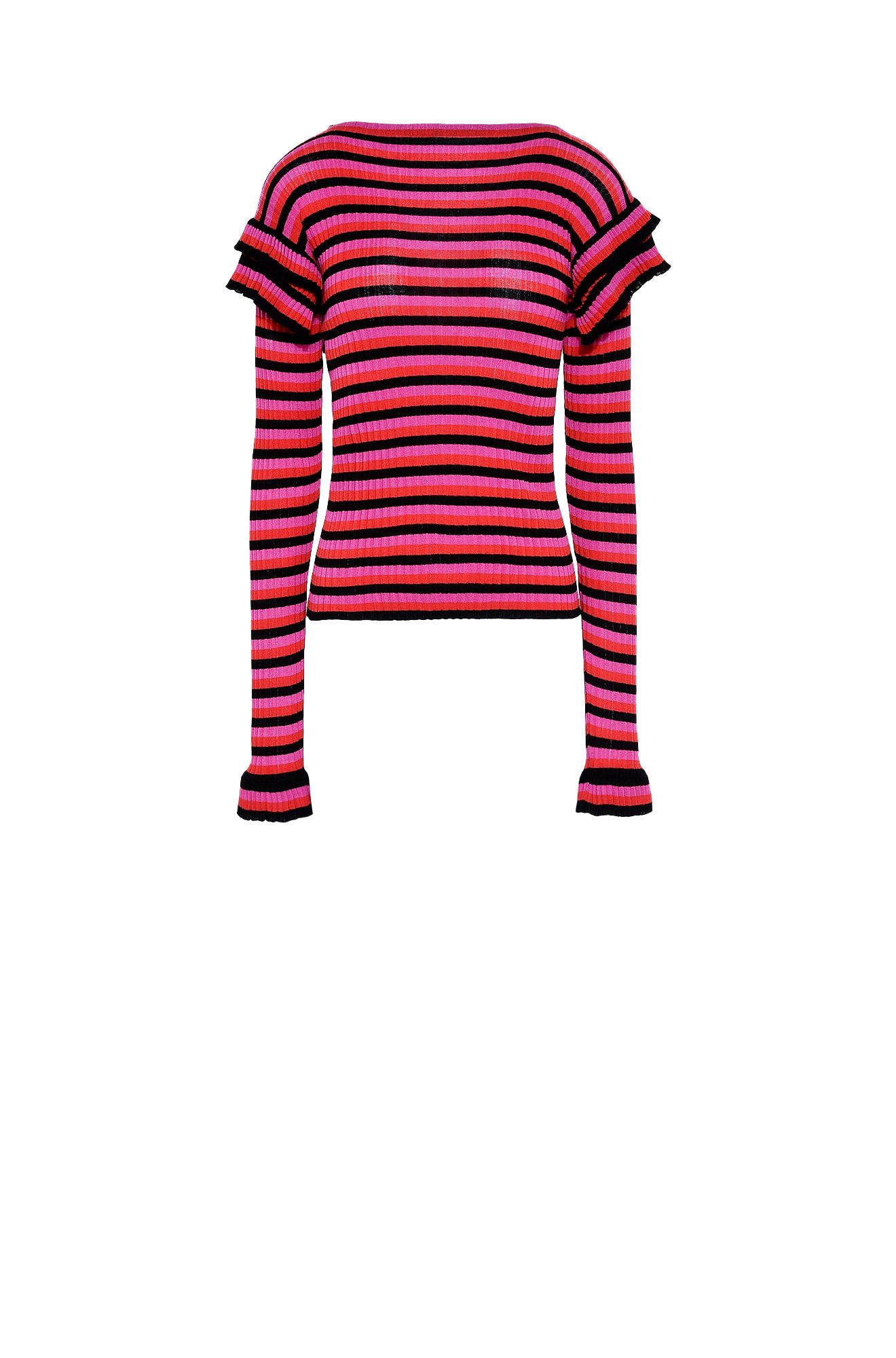 Striped boat neck sweater