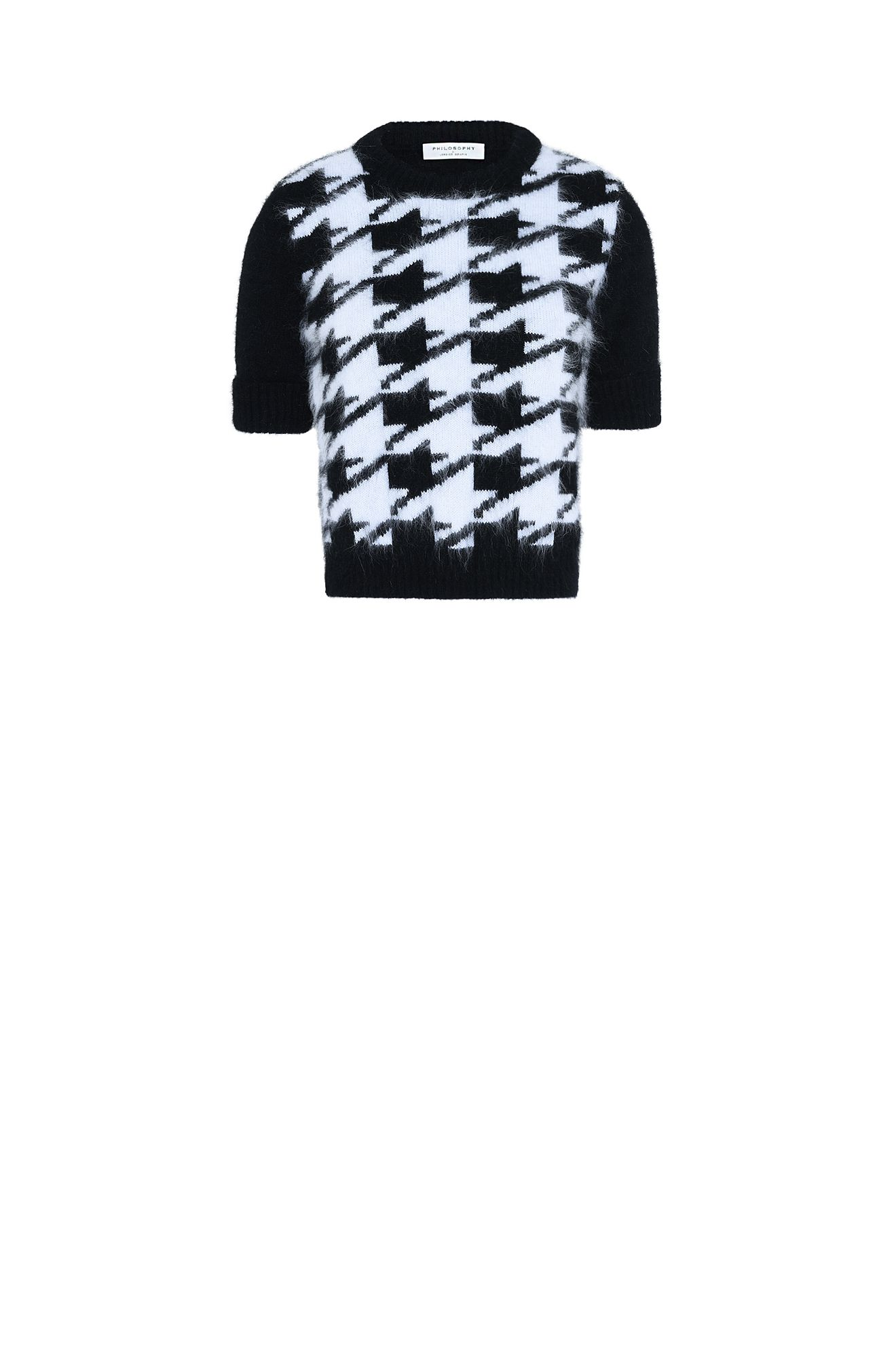 Houndstooth mini sweater