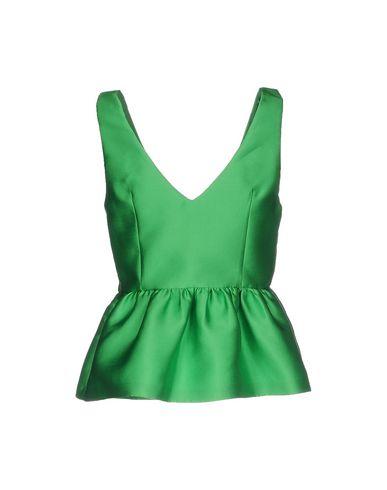 Фото 2 - Топ без рукавов от P.A.R.O.S.H. зеленого цвета