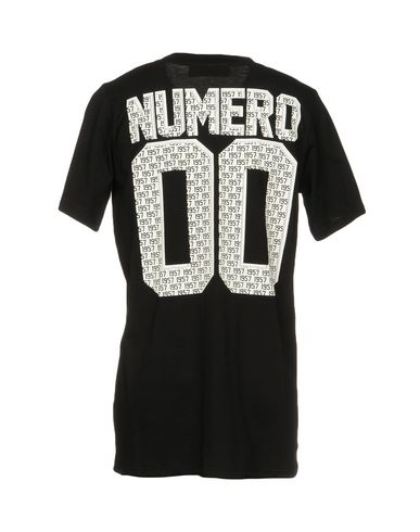 Фото 2 - Женскую футболку NUMERO 00 черного цвета