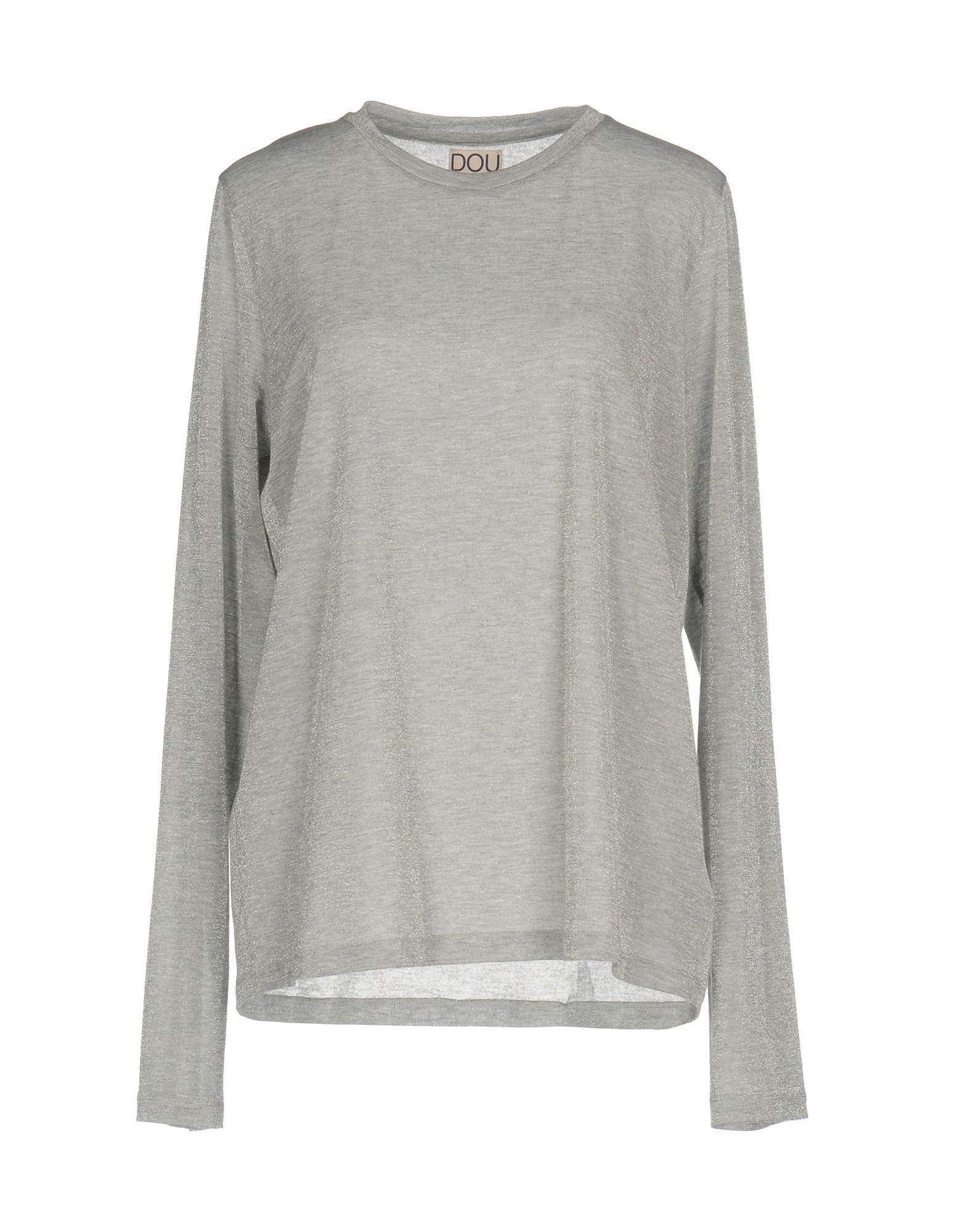 DOUUOD Damen T-shirts Farbe Grau Größe 6 jetztbilligerkaufen