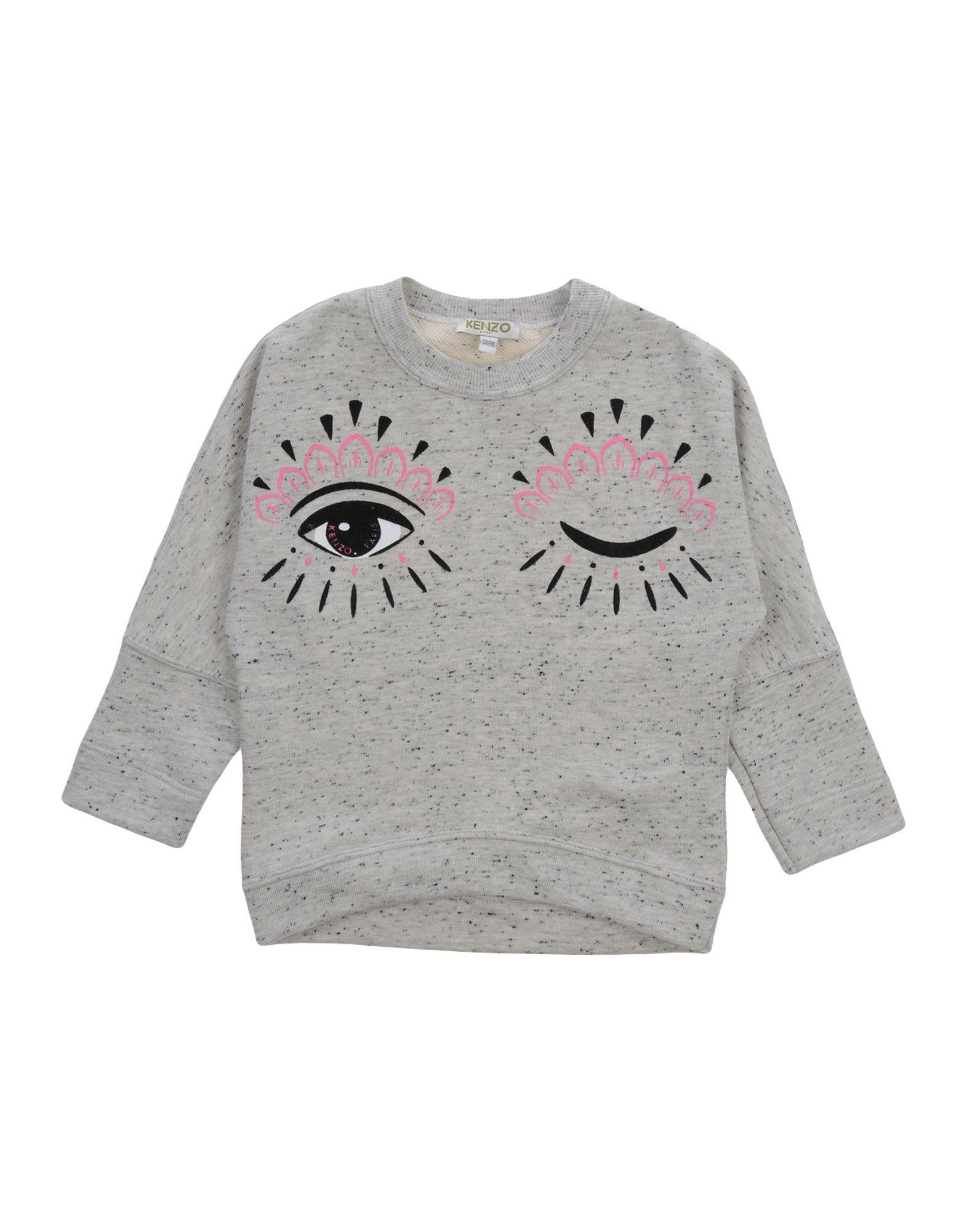 KENZO Mädchen 3-8 jahre Sweatshirt Farbe Hellgrau Größe 6 - broschei