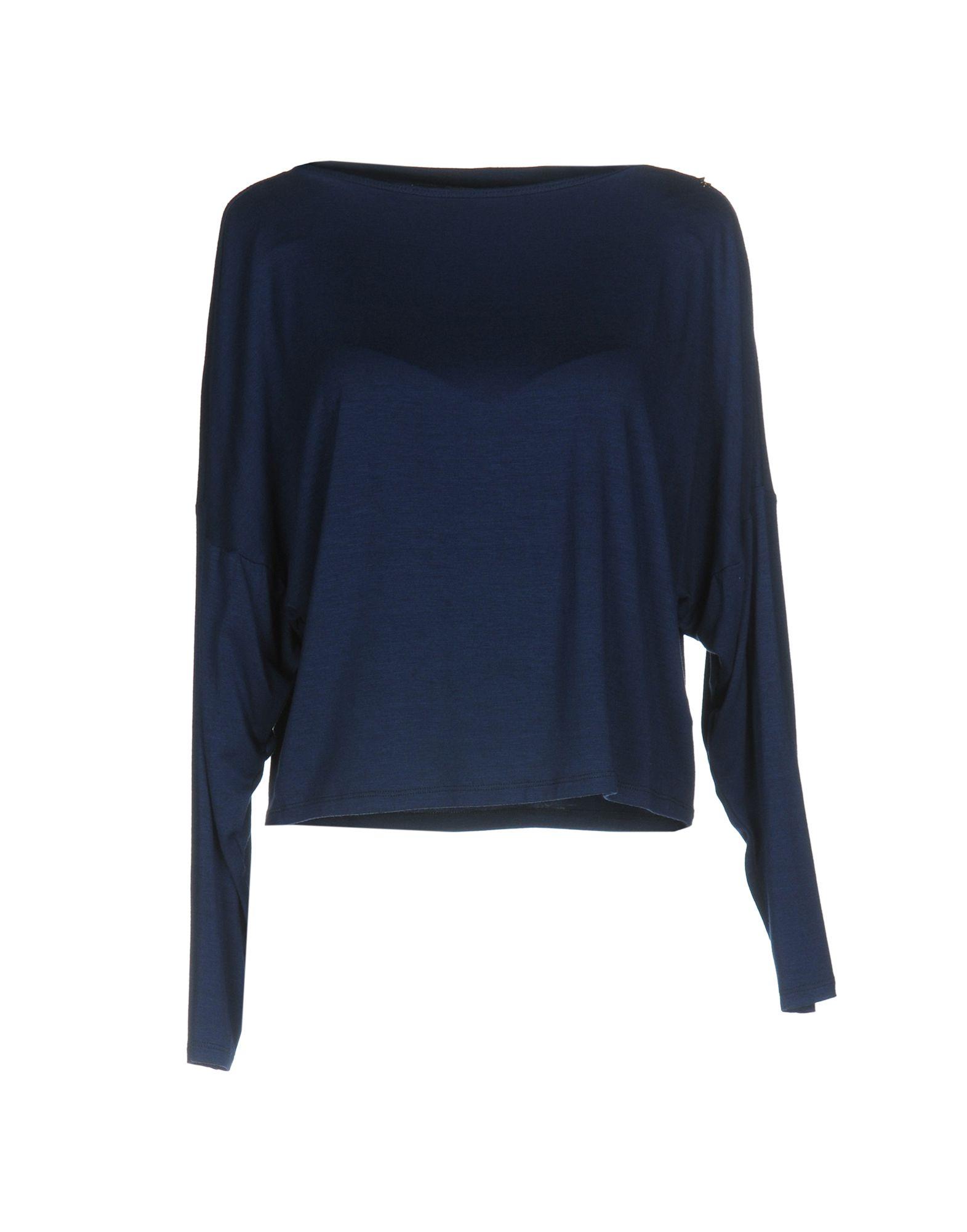 ELISABETTA FRANCHI Damen T-shirts Farbe Blau Größe 6 - broschei