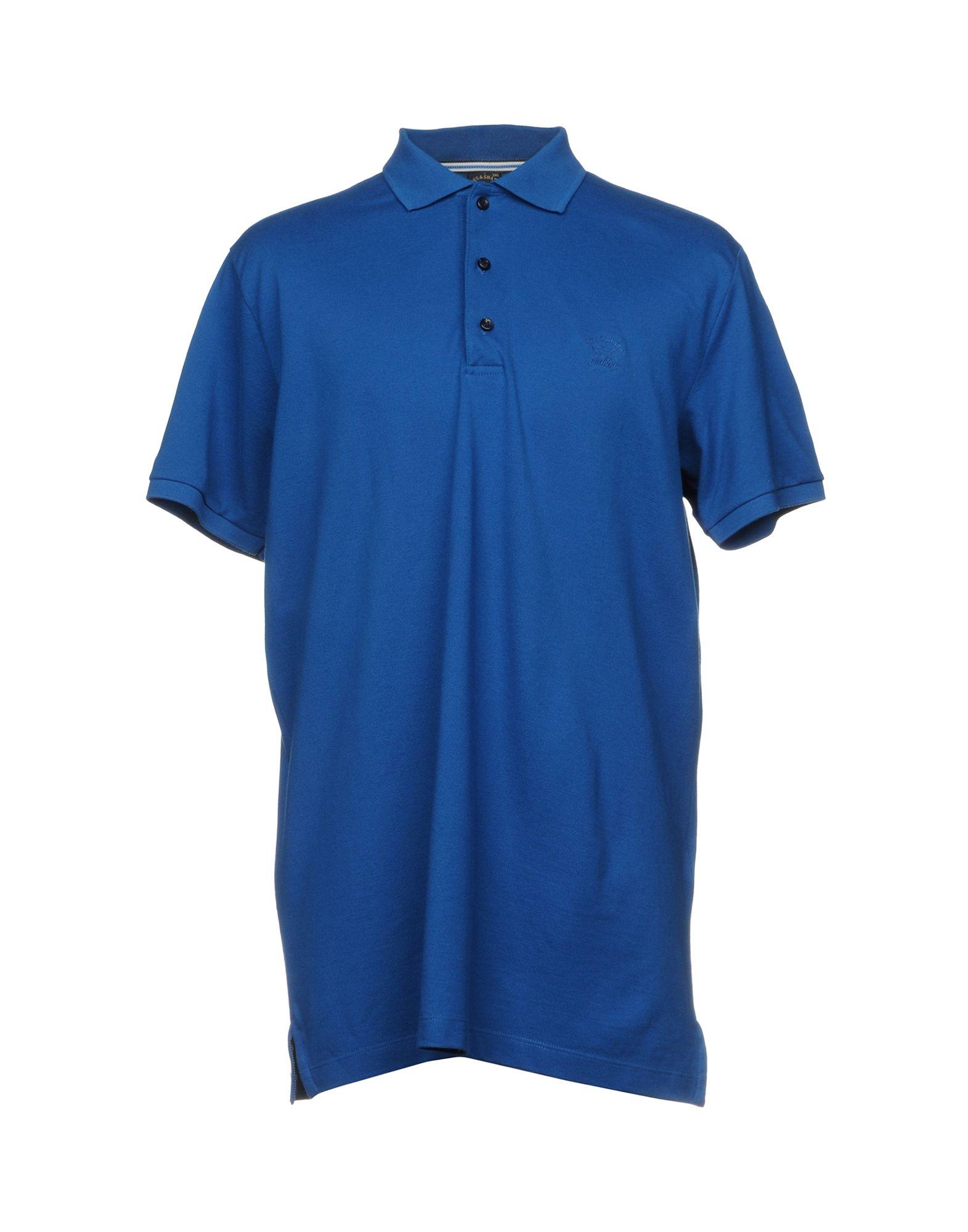 PAUL & SHARK Herren Poloshirt Farbe Blau Größe 9 - broschei