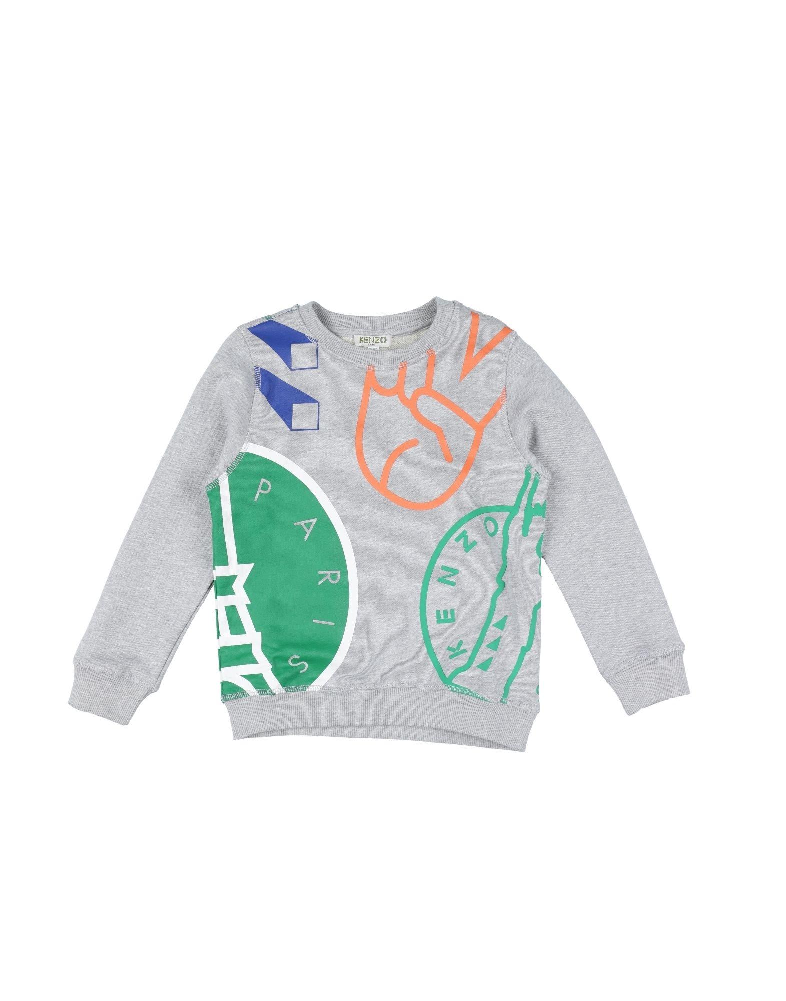 KENZO Jungen 3-8 jahre Sweatshirt Farbe Hellgrau Größe 6 - broschei