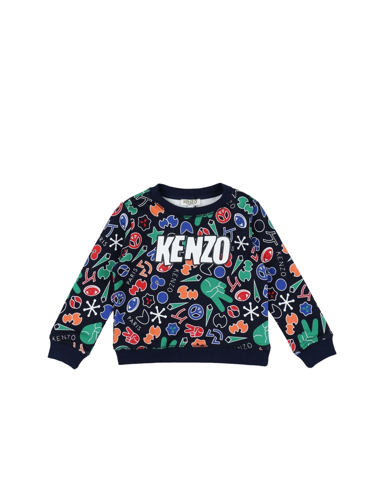 KENZO Jungen 3-8 jahre Sweatshirt Farbe Dunkelblau Größe 6 - broschei
