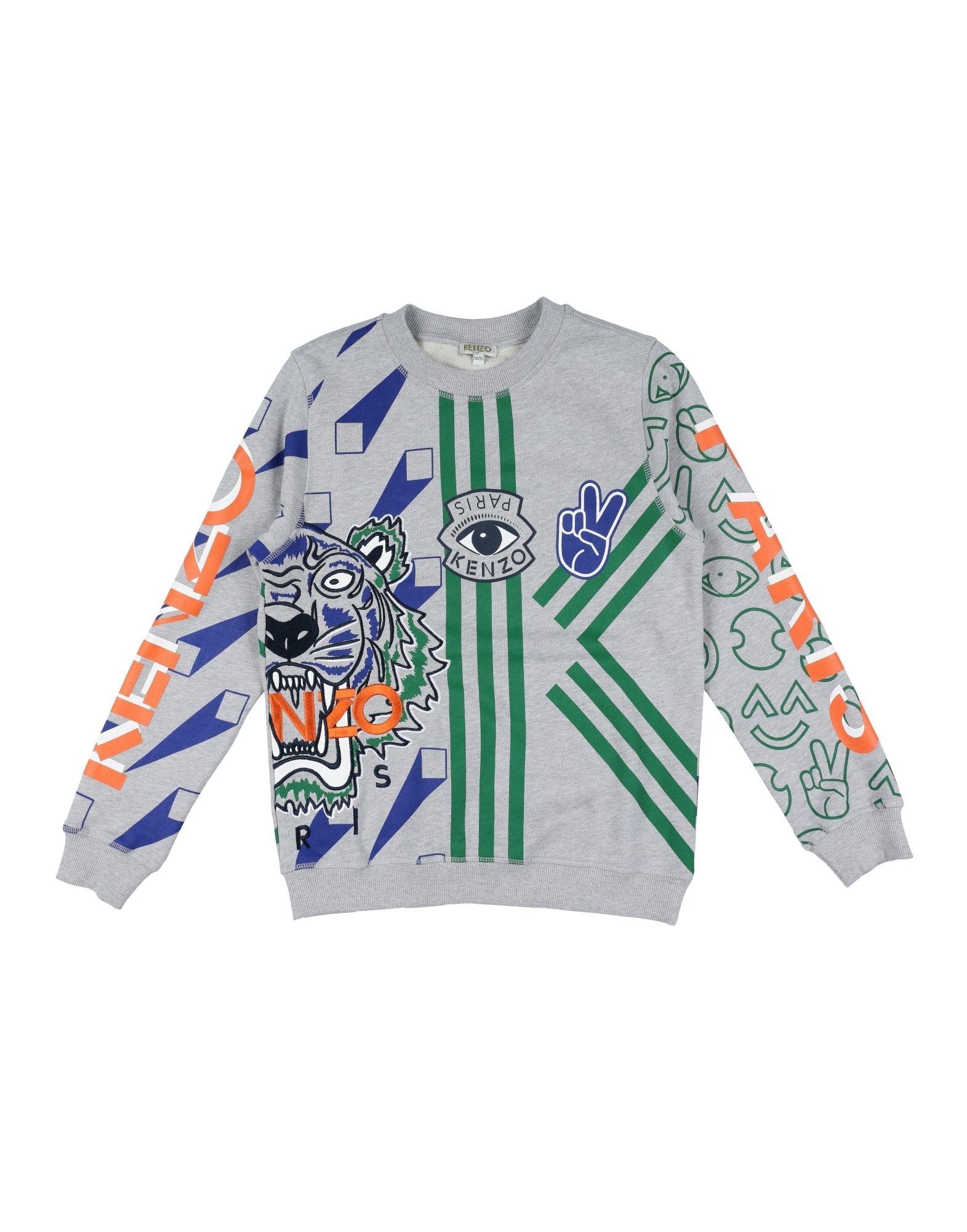 KENZO Jungen 9-16 jahre Sweatshirt Farbe Hellgrau Größe 6 - broschei