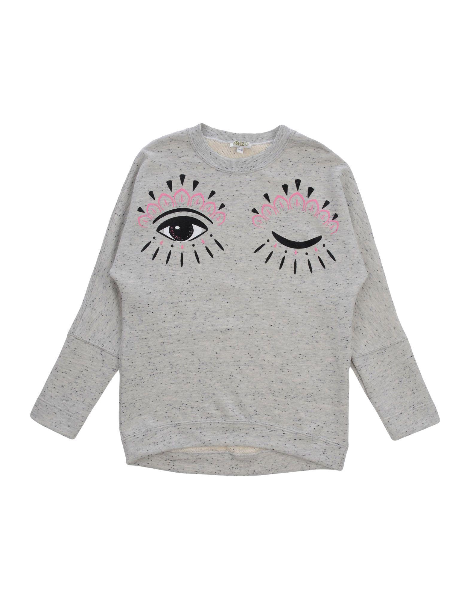 KENZO Mädchen 9-16 jahre Sweatshirt Farbe Hellgrau Größe 6 - broschei