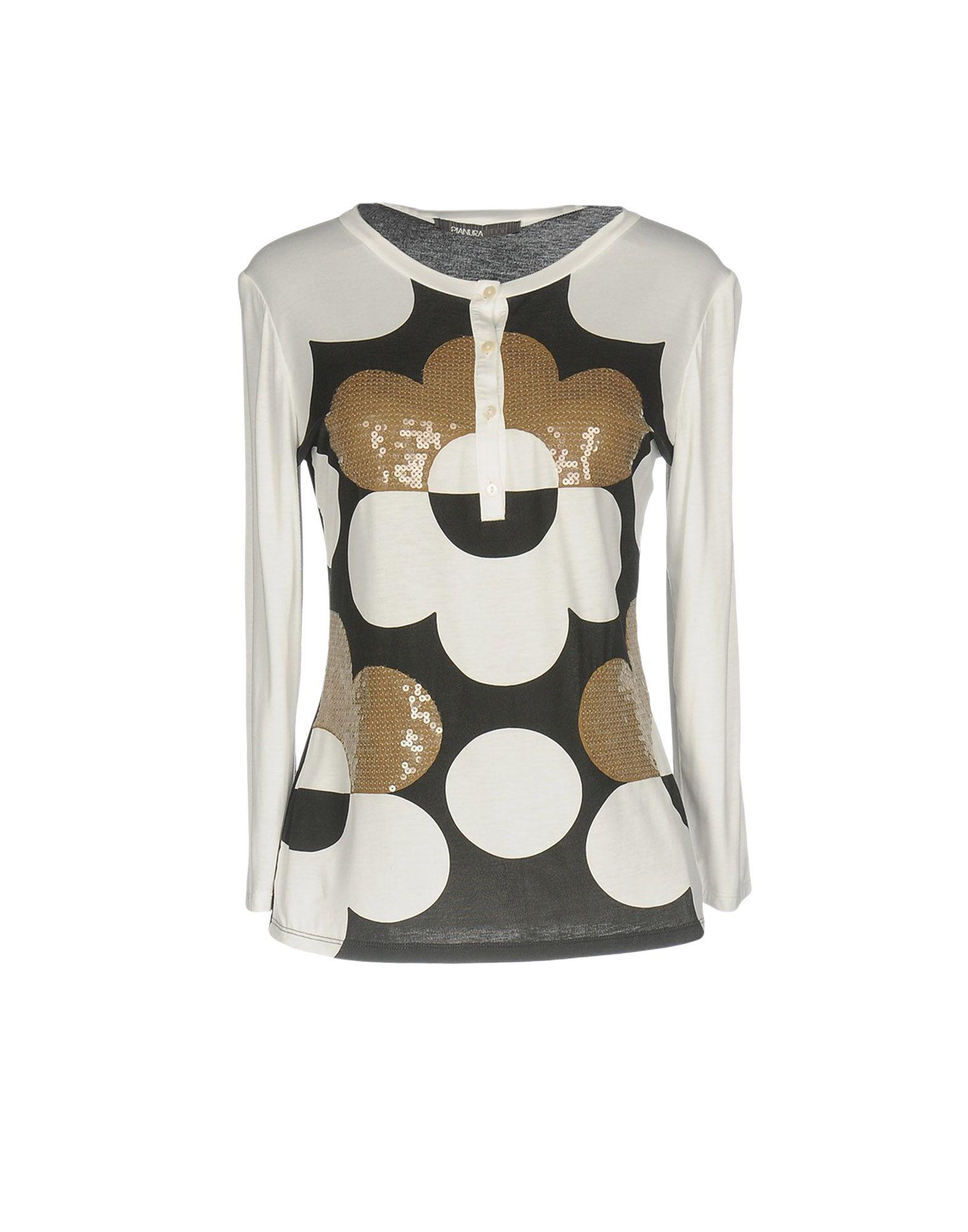 PIANURASTUDIO Damen T-shirts Farbe Weiß Größe 5 jetztbilligerkaufen