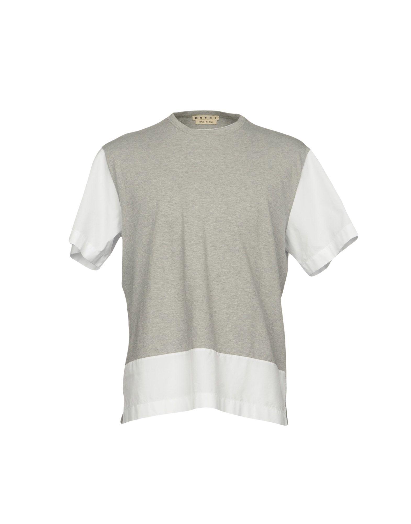 MARNI Herren T-shirts Farbe Hellgrau Größe 6 - broschei