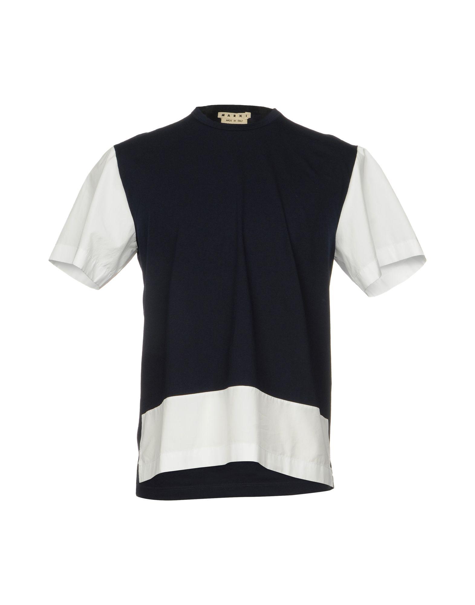MARNI Herren T-shirts Farbe Dunkelblau Größe 6 - broschei