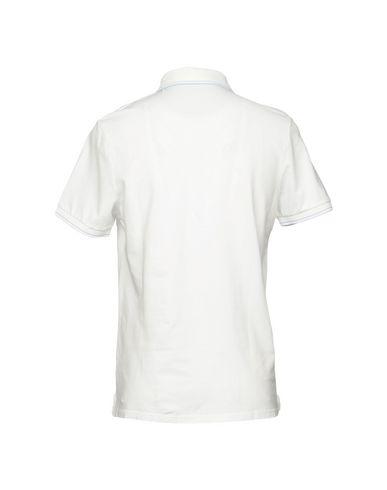 Фото 2 - Мужское поло SHOCKLY белого цвета