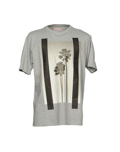 Фото - Женскую футболку PALM ANGELS серого цвета