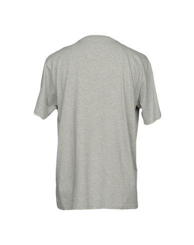 Фото 2 - Женскую футболку PALM ANGELS серого цвета