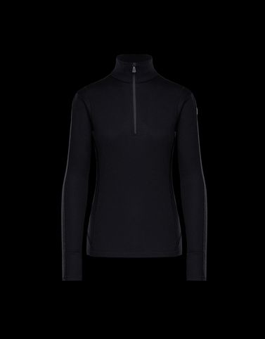 MONCLER ZIPPED MOCK POLO NECK - Tops - women