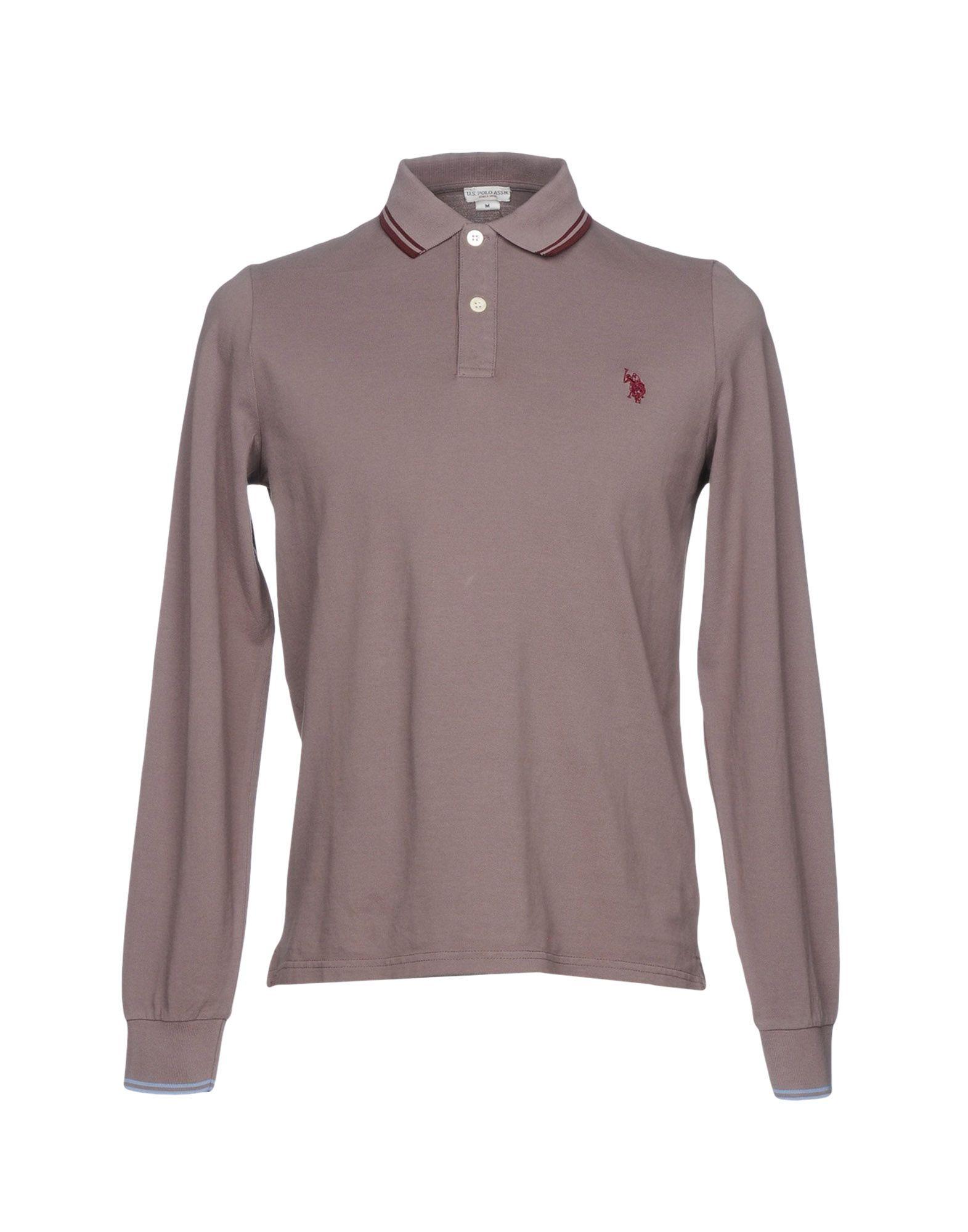 《送料無料》U.S.POLO ASSN. メンズ ポロシャツ ドーブグレー S コットン 100%