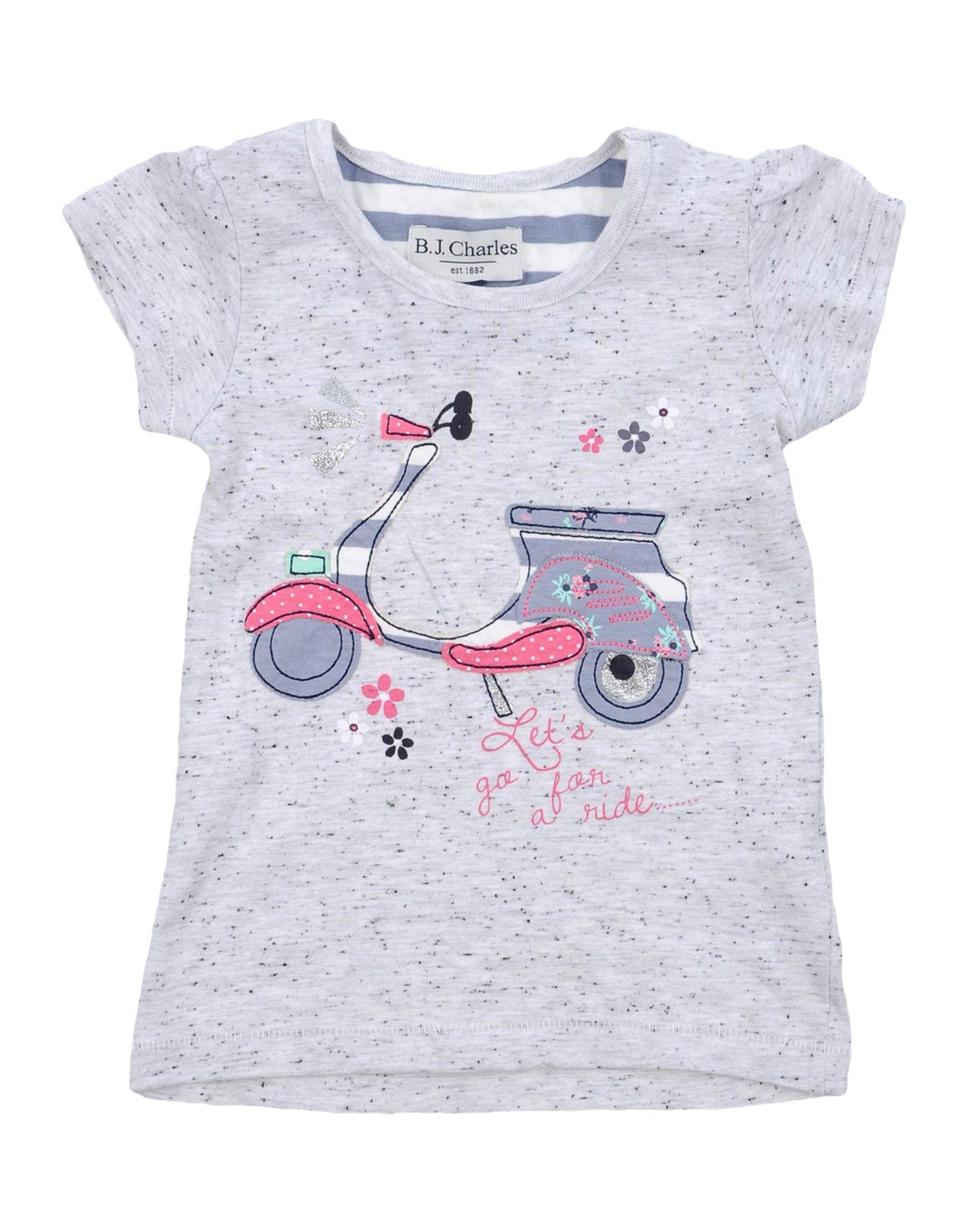 B.j.charles Kids' T-shirts In Light Grey