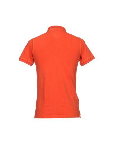 Фото 2 - Мужское поло FRADI оранжевого цвета