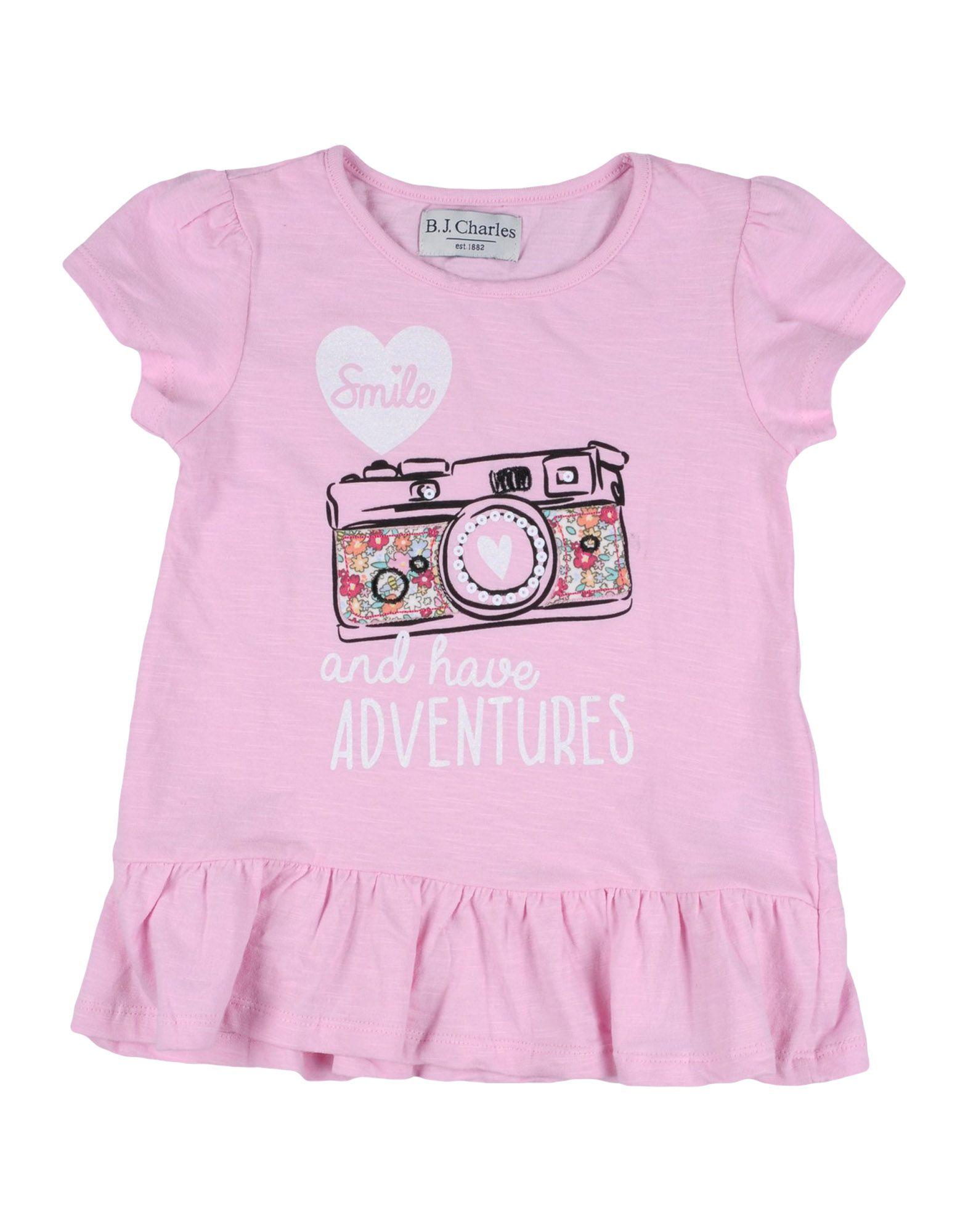 B.j.charles Kids' T-shirts In Pink
