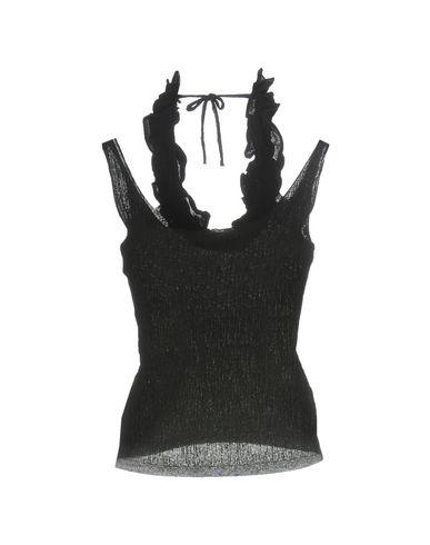 Фото 2 - Топ без рукавов от TERRE ALTE черного цвета
