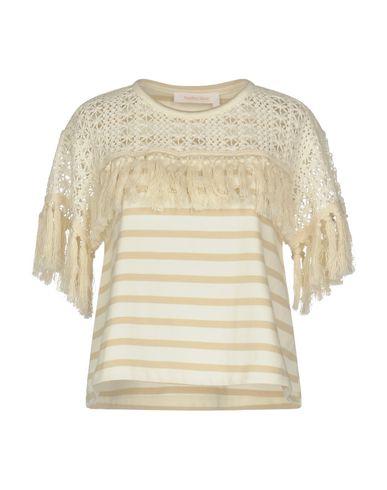 Купить Женскую футболку SEE BY CHLOÉ цвет слоновая кость
