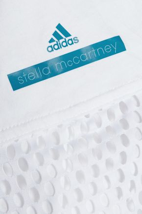 ADIDAS by STELLA McCARTNEY Mesh-paneled cotton-jersey top