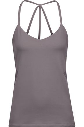 YUMMIE by HEATHER THOMSON® Hillary mesh-trimmed stretch-jersey tank