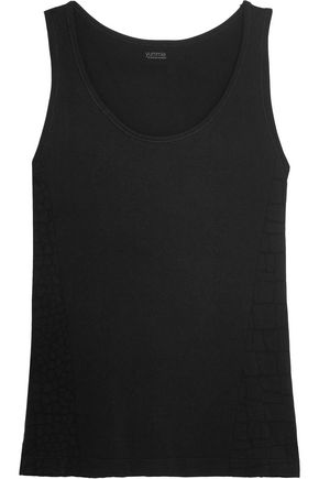 YUMMIE by HEATHER THOMSON Jagger croc-effect stretch-jersey tank