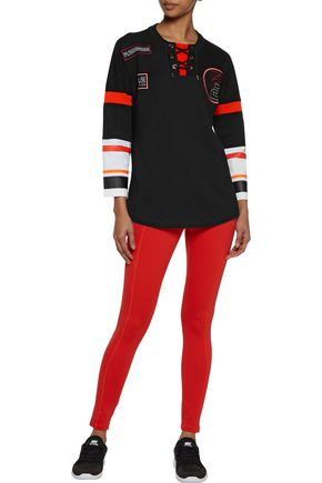 P.E NATION On The Fly lace-up cotton-jersey sweatshirt