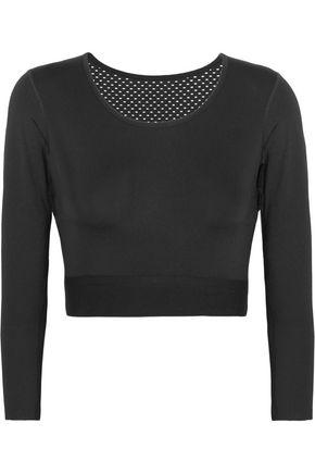 NIKE NikeLab Pro mesh-paneled stretch-jersey top