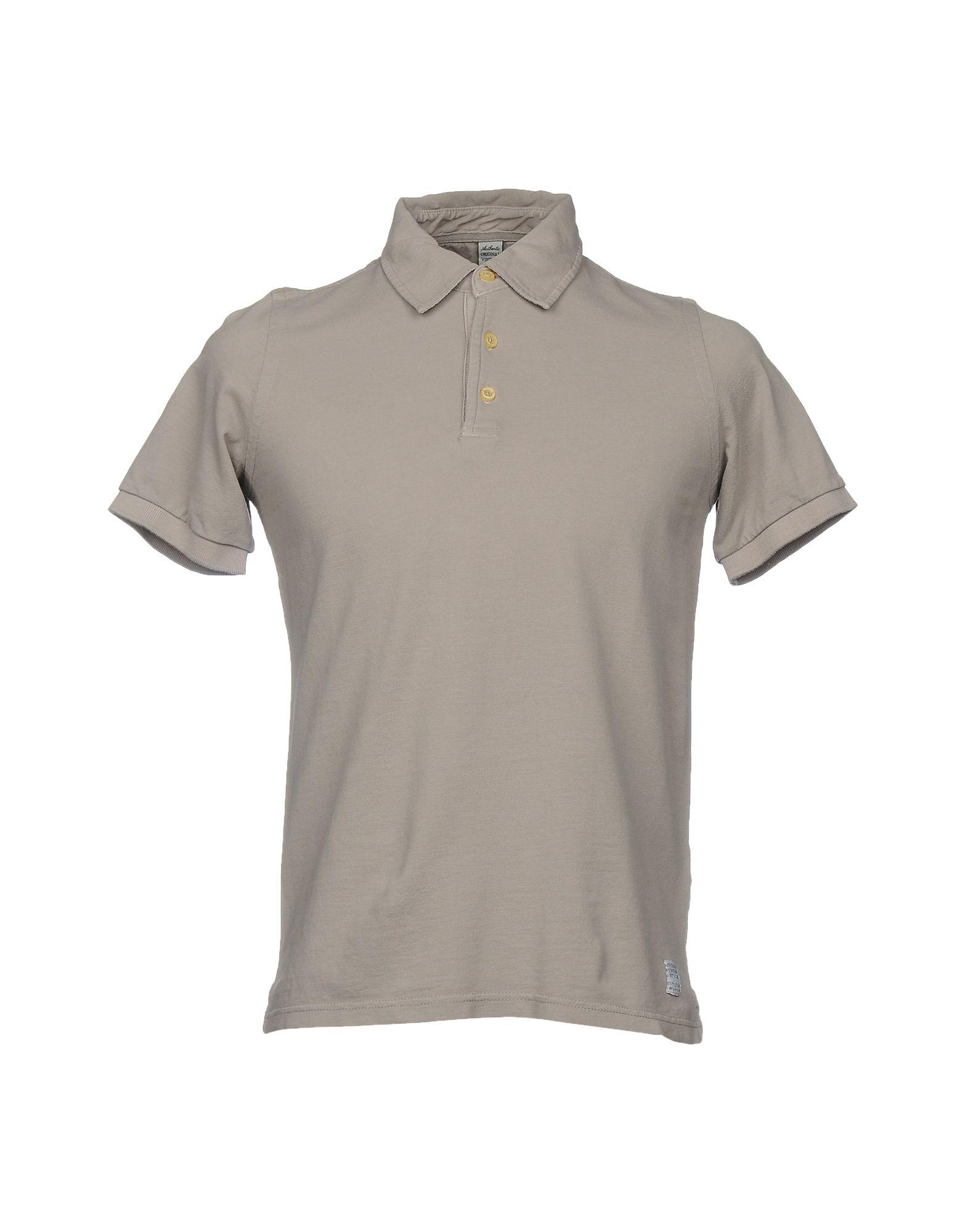 《セール開催中》AUTHENTIC ORIGINAL VINTAGE STYLE メンズ ポロシャツ ドーブグレー M コットン 100%