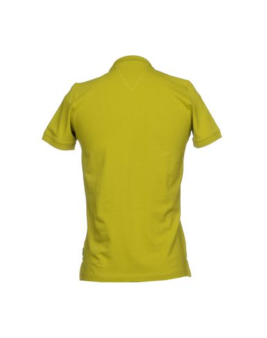 Фото 2 - Мужское поло FRADI кислотно-зеленого цвета
