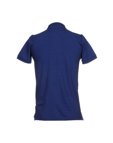 Фото 2 - Мужское поло FRADI синего цвета