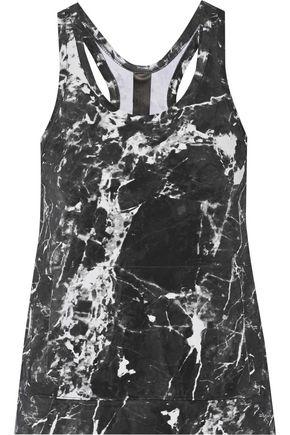 norma kamali female norma kamali woman printed stretchjersey tank charcoal size xs