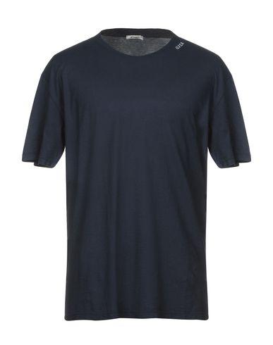 Фото - Женскую футболку OFFICINA 36 темно-синего цвета