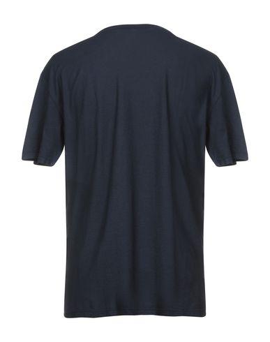 Фото 2 - Женскую футболку OFFICINA 36 темно-синего цвета