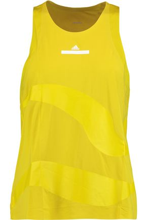 ADIDAS by STELLA McCARTNEY Mesh-paneled stretch-jersey tank