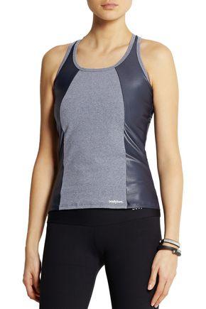 BODYISM I Am Shiny paneled stretch-jersey tank