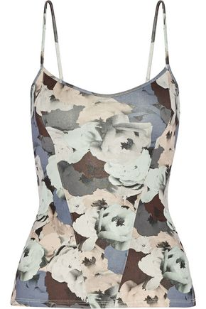 LIVE THE PROCESS Floral-print stretch-Supplex® tank