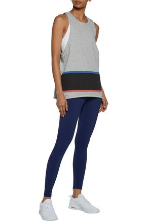 P.E NATION Five and Five color-block cotton-jersey tank