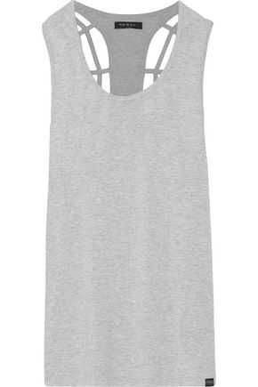 KORAL Cutout stretch-jersey tank