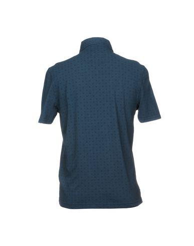 Фото 2 - Мужское поло  грифельно-синего цвета