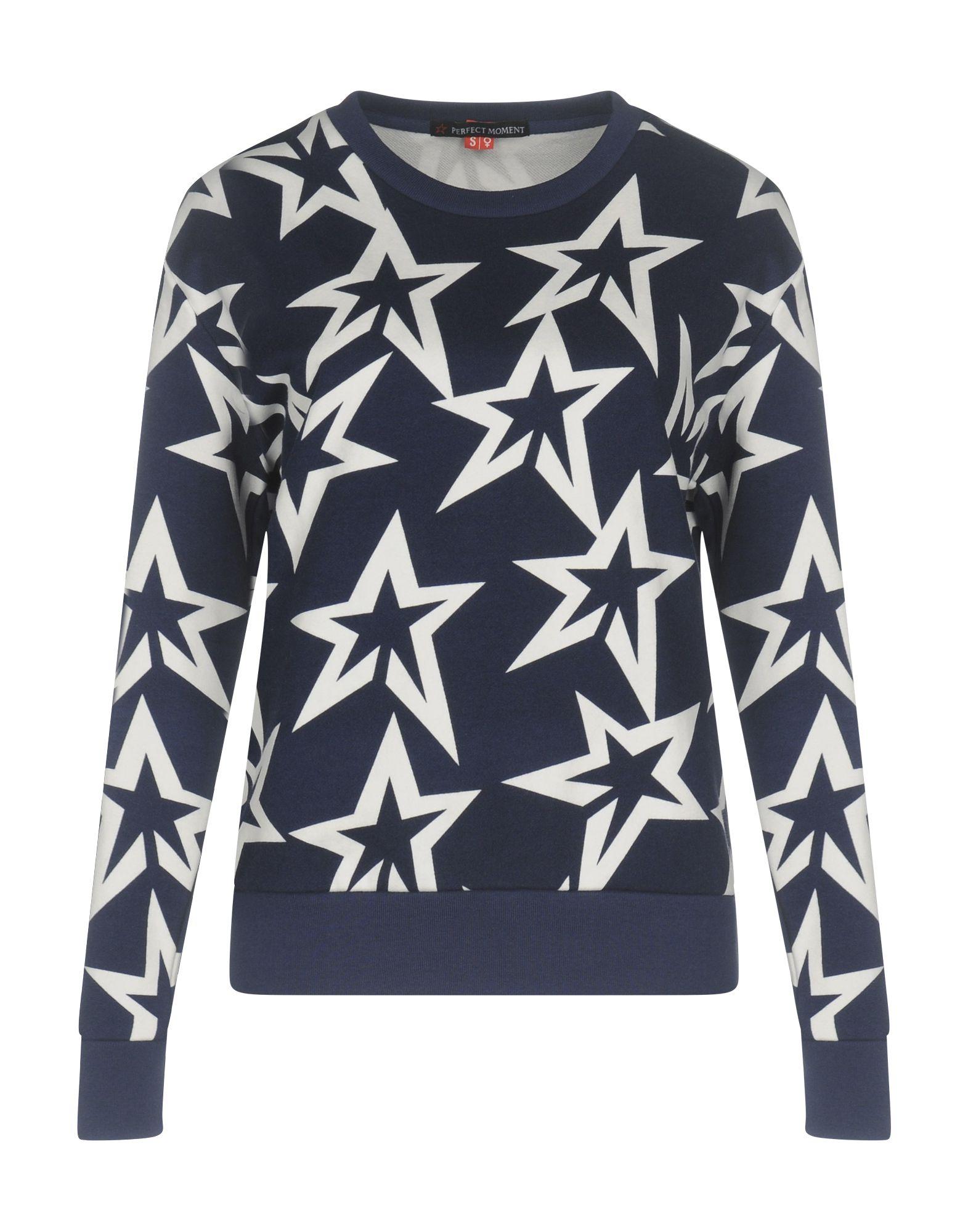 《セール開催中》PERFECT MOMENT レディース スウェットシャツ ダークブルー L コットン 100%